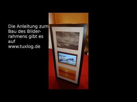 Digitaler Bilderrahmen und Info-Display mit dem Raspberry Pi und einem IKEA Rahmen